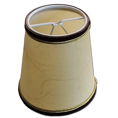 Lampenschirm Perga fluweel Gold 11-7-11cm Klemmschirm …